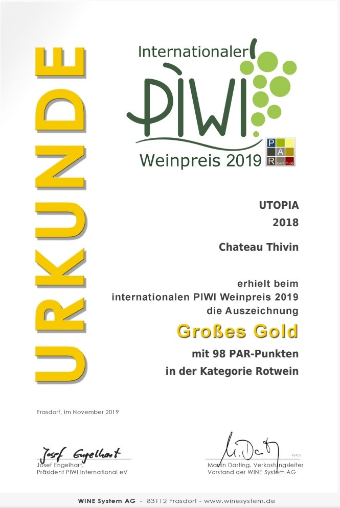International PIWI Wine Avard 2019 - 2019/11